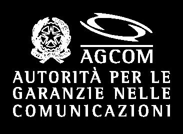 Logo Agcom 2 righe negativo